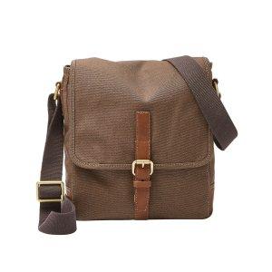 Fossil® Men's Davis Canvas Small Messenger Bag