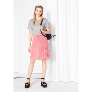 Mini Pleats Crepe Skirt - Pink - & Other Stories
