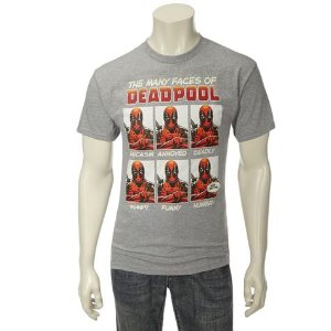 Deadpool Guys Many Faces Screen T-Shirt: Shopko