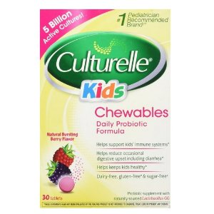 $13.36 Culturelle Kids Chewables Probiotic, Natural Bursting Berry Flavor, 30 ct