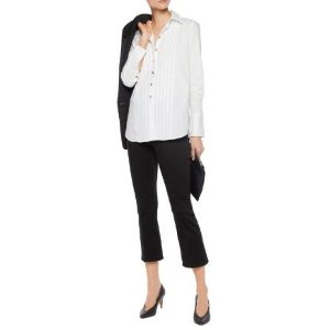 Tuxedo pintucked cotton-blend shirt | J Brand | US | THE OUTNET