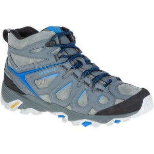 Men - Moab FST Leather Mid Waterproof - Turbulence | Merrell