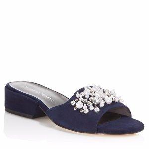 Stuart Weitzman Decorslide Embellished Slide Sandals | Bloomingdale's