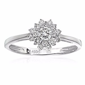 From $261.12 ELLE Bridal Diamond Rhodium Plated 14k White Gold Engagement Band Rings sale