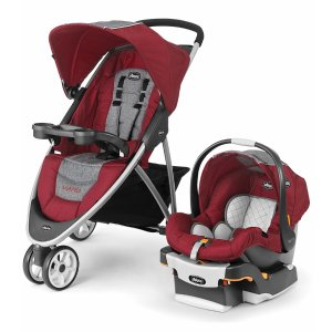 Chicco Viaro Travel System - Cranberry