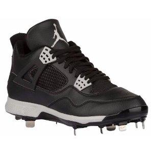 Jordan Retro IV Metal - Men's - Baseball - Shoes - Black/Tech Grey