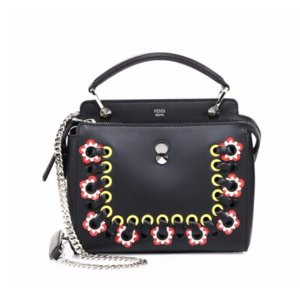 Fendi - Dot.com Whipstitched Leather Satchel - saks.com