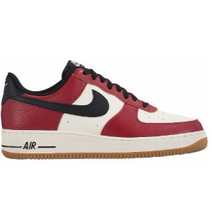 Nike Air Force 1 Low - Men's - Basketball - Shoes - Gym Red/Black/Gum Light Brown/Sail