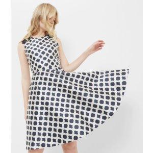 Blushing Rose Geo dress - Navy | Dresses | Ted Baker