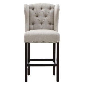 Home Decorators Collection Madelyn 27.25 in. Tan Cushioned Bar Stool-1641100880 - The Home Depot
