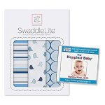 SwaddleDesigns SwaddleLite 3件套透气棉毛毯 + 快乐宝贝助婴儿睡眠白噪声CD