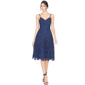 Sapphire Naomi Spaghetti Strap Fit Flare Dress | From Alice + Olivia