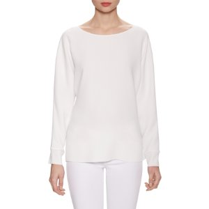 Rib Cuff Dolman Sleeve Blouse by Vince at Gilt