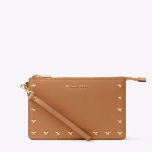 Daniela Studded Leather wristlet