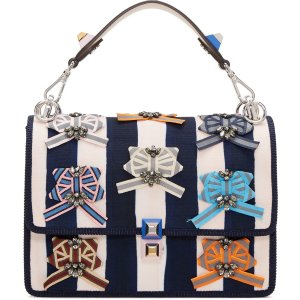 Fendi: Blue & Off-White Kan I Bag | SSENSE