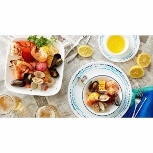 Corelle 16-Piece Livingware Ocean Blues Dinnerware Set - Walmart.com