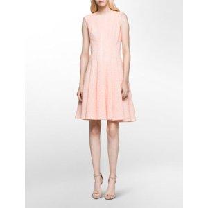 laser cut flare dress | Calvin Klein