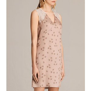 ALLSAINTS US: Womens Prism Rosalie Dress (BLUSH PINK)