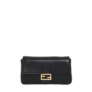 FENDI - MICRO BAGUETTE NAPPA LEATHER BAG