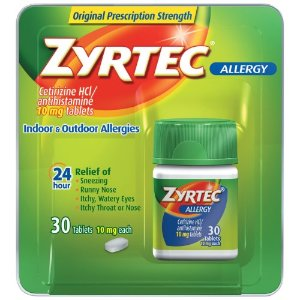 Zyrtec Allergy 10 mg Tablets, 30 Ct | Jet.com