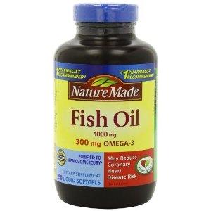 Nature Made 鱼油 1000mg, 300mg Omega-3 软胶囊200颗装(满$35立减$10)