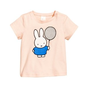 Top with Printed Design | Powder pink/Miffy | Kids | H&M US