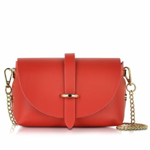 Le Parmentier Caviar Small Red Leather Shoulder Bag at FORZIERI