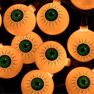 10 Count Eyeball Halloween String Light Green 11.5 Feet - Monoprice.com