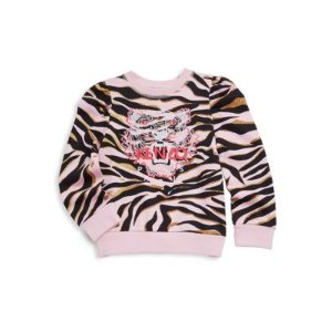 Toddler's, Little Girl's & Girl's Tiger Cotton Sweater