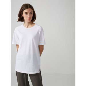 Scoop-Neck Raglan Tunic-Tee in Bright White | Frank And Oak