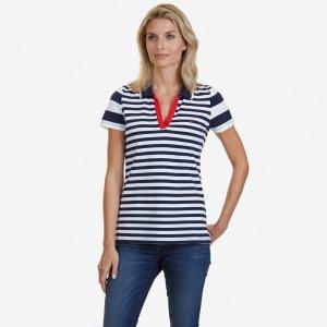 Striped Polo Shirt - Sky Blue Wash | Nautica