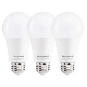 $3.29(原价$12.99)补货!Honeywell LED A19 可调光灯泡 60瓦等效 暖白光