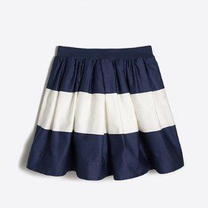 Girls' wide-stripe sateen skirt : Skirts | J.Crew Factory