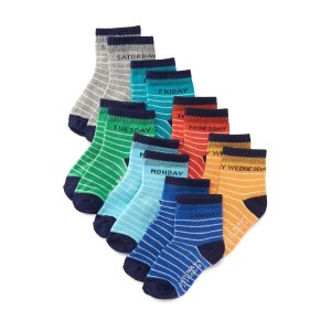 Day-of-the-Week 7-Pack Socks for Toddler & Baby | Old Navy