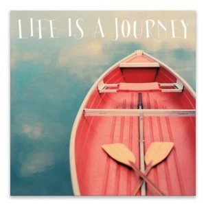 Life is a Journey 18-Inch Square Canvas Wall Art