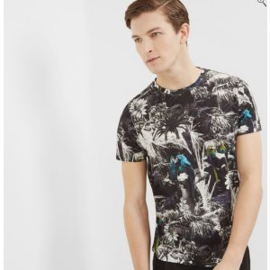 TROPAR Parrot printed cotton T-shirt