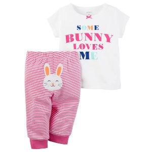 Baby Girl 2-Piece Easter Tee & Pant Set | Carters.com