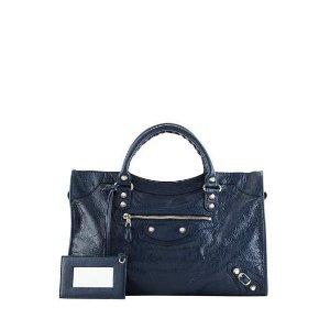 Balenciaga Giant 12 City Lambskin Satchel Bag