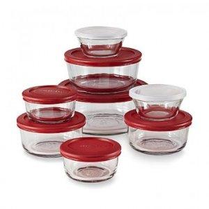 Anchor Hocking 16pc Round Kitchen Storage Set - FLASH SALE SAVE 30% - Sale