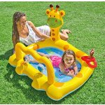 Intex Smiley Giraffe Inflatable Baby Pool, 44