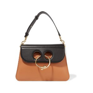 Pierce medium color-block leather shoulder bag
