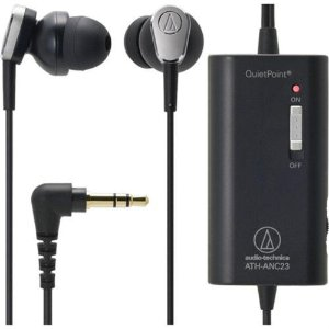 Audio-Technica ATH-ANC23 QuietPoint Active Noise-Cancelling In-Ear Headphones 4961310112967 | eBay