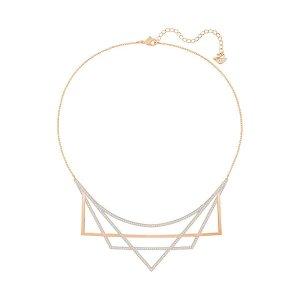 Geometry Necklace, Medium, White - Jewelry - Swarovski Online Shop