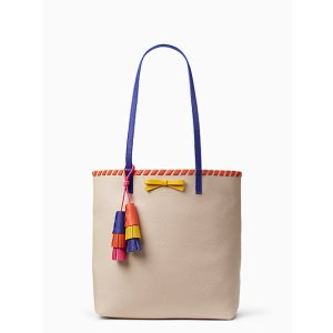on purpose leather tote with tassel | Kate Spade New York