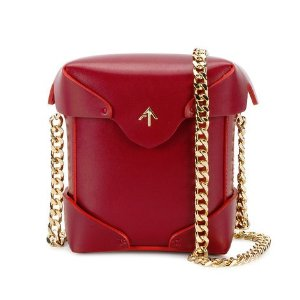 Manu Atelier 'Micro Pristine' Gold Chain Bag