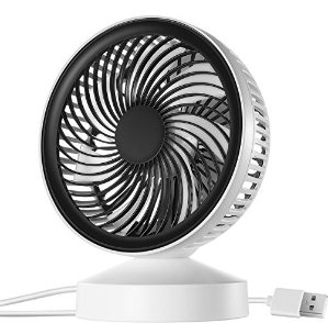 Homasy Mini USB Table Fan, Desktop Personal Fan for Table, Office, Camping, Dorm, Baby office, Home, Dorm, Study, Library, Games room