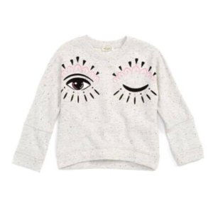 KENZO Blinking Eye Sweatshirt (Toddler Girls, Little Girls & Big Girls) | Nordstrom