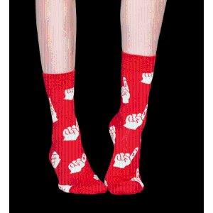 Red Combed Cotton Crew Sock: colour & style | Happy Socks