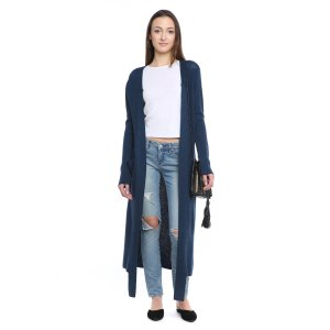 H.one Waffle Knit Duster Cardigan Sweater   South Moon Under