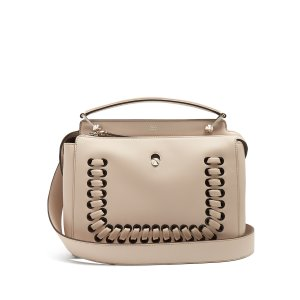 Dotcom whipstitched leather bag